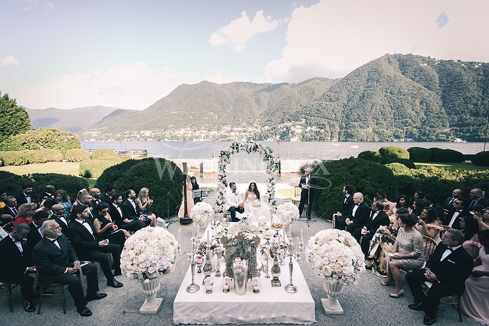 12 Iranian Wedding on Italy's Lake Como.