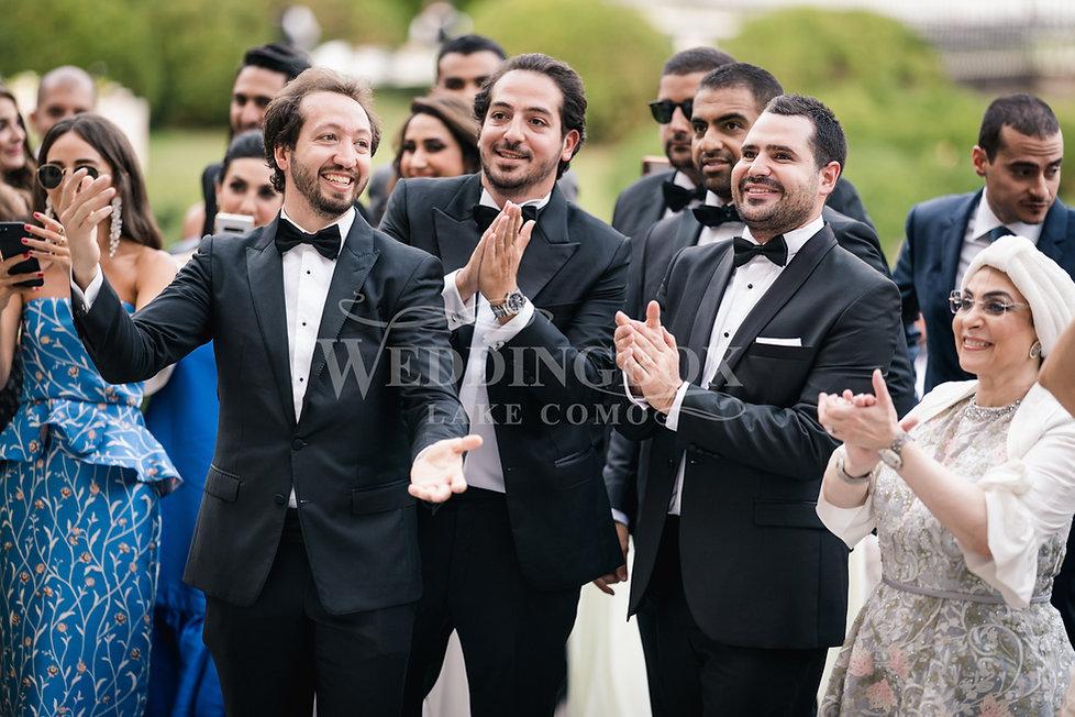 6. Wedding guests at Villa Erba in Cerno