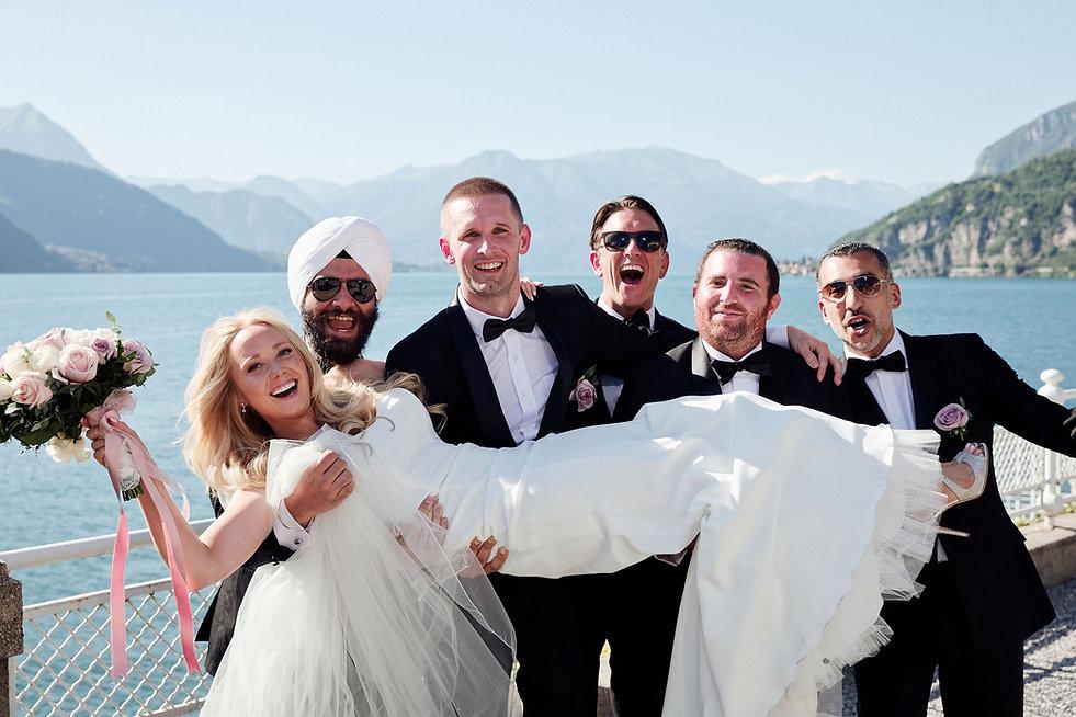 11. Groom's team on Lake Como.jpg