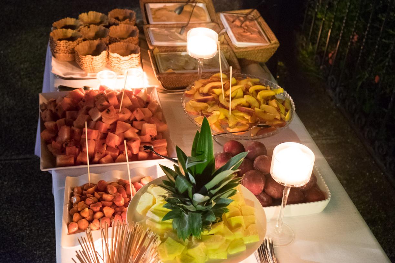 Fruits and desserts buffet at Villa
