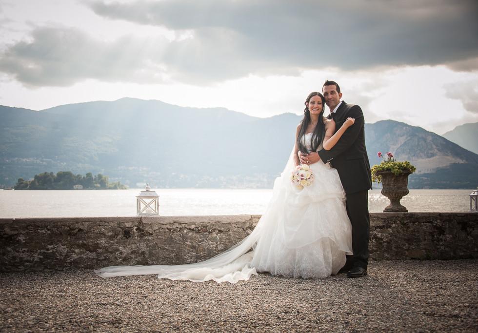 Wedding photo shoot on Lake Maggiore.
