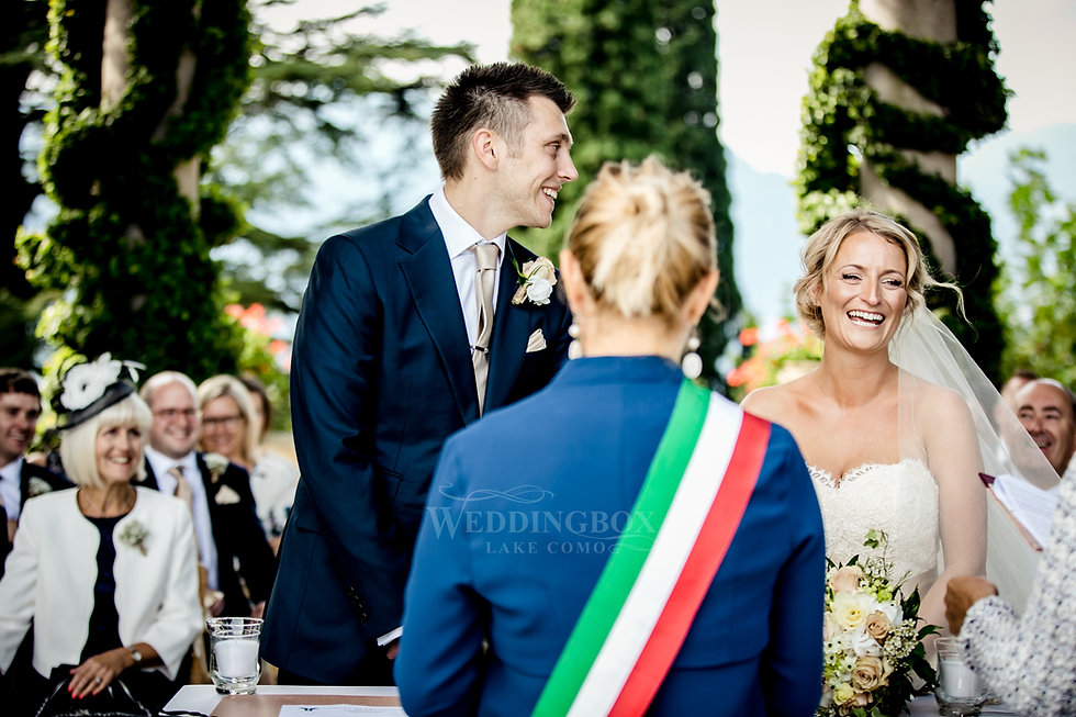 18. Civil wedding ceremony. Villa Balbia