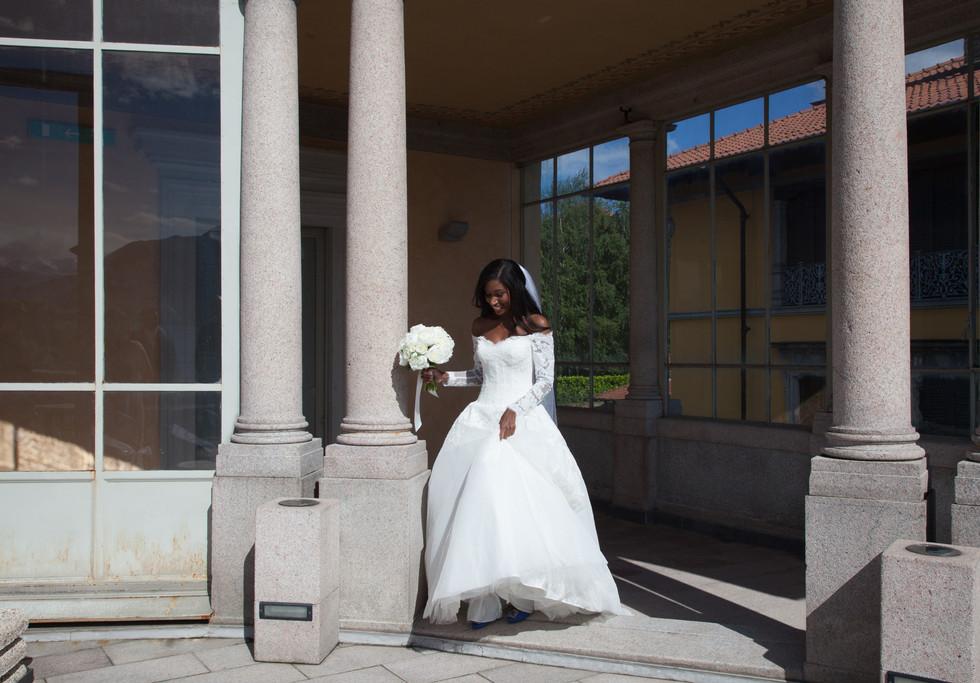 Bride at Villa Giulia in Pallanza