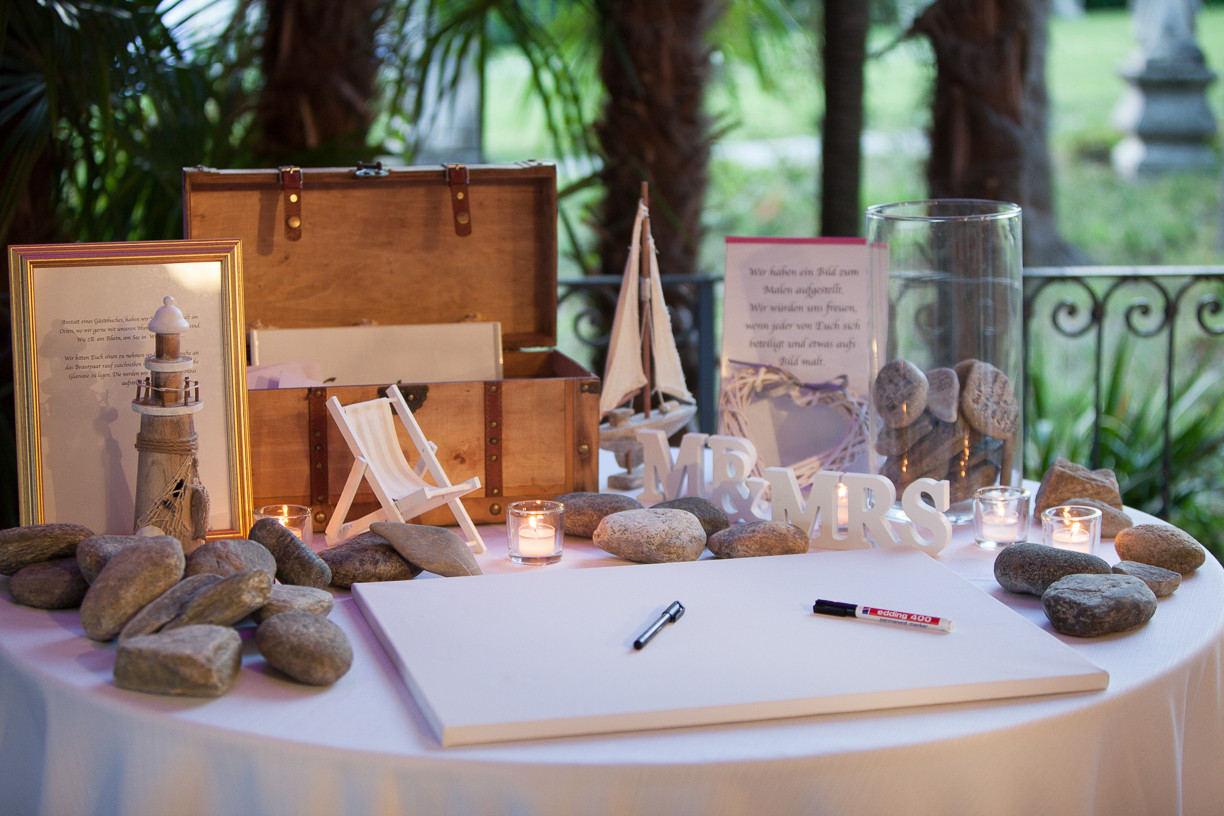 Guest book table nautical theme