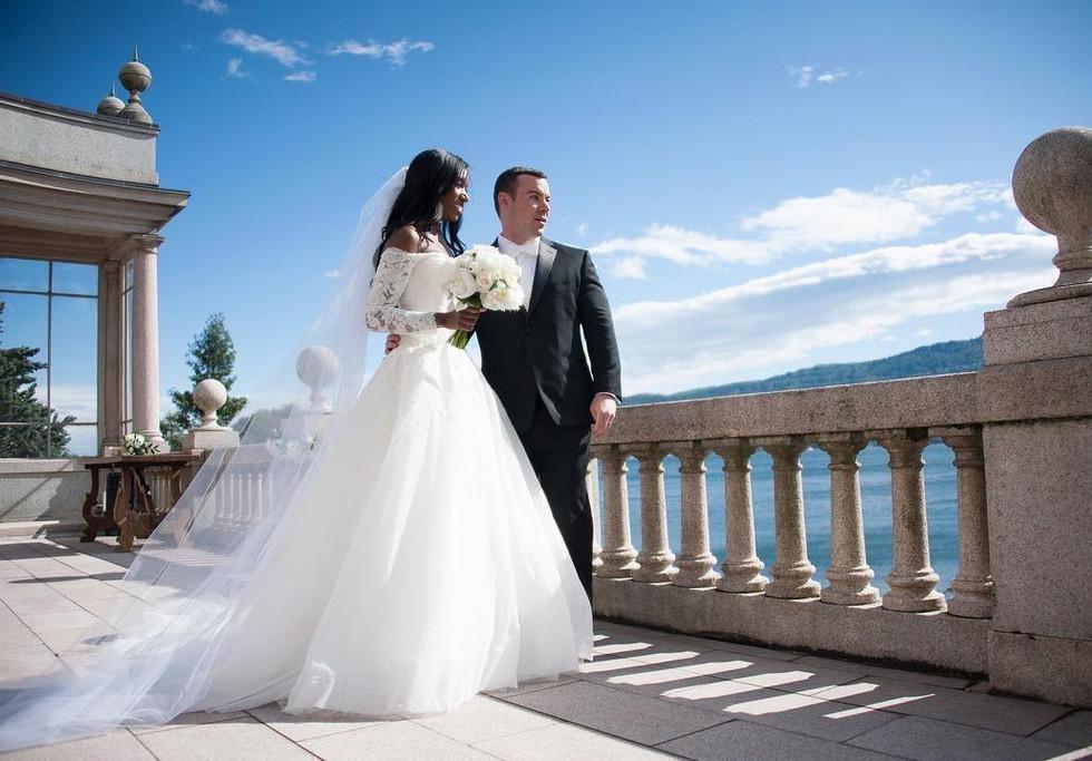 Rooftop wedding ceremony Villa Giulia It