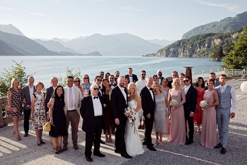 23. Guests on the wedding day at Villa L