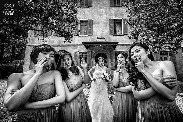 3. The bridal party at Villa Regina Teod