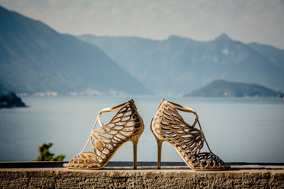 2. Wedding shoes, Lake Como meets Jimmy