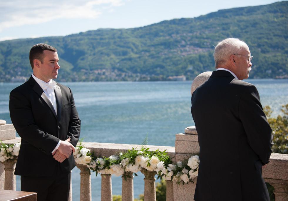 Rooftop wedding ceremony at Villa Giulia