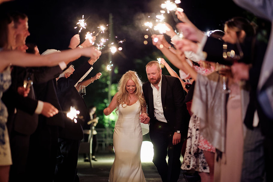 34. Sparkles on your wedding day at Vill