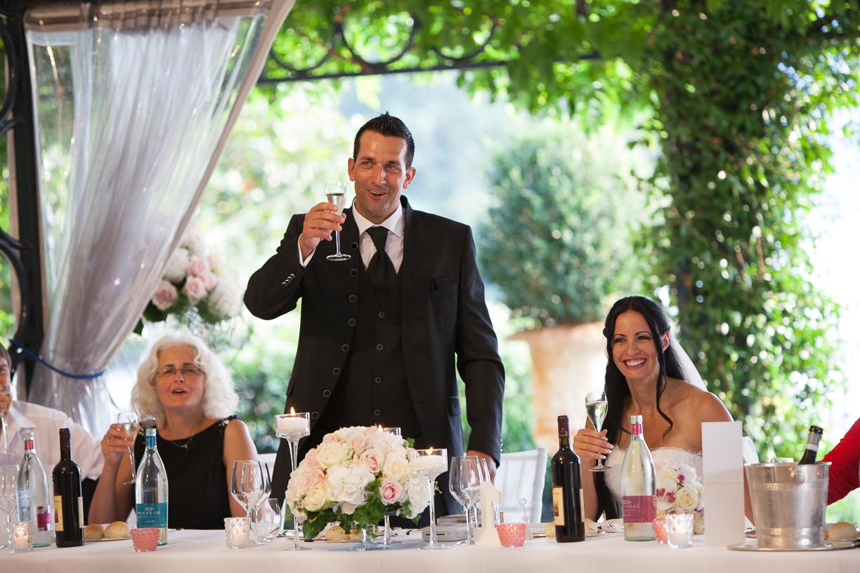 Groom's speech at Villa usconi Cleri