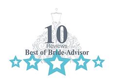 Bride-Advisor 10 Reviews Milestone Badge