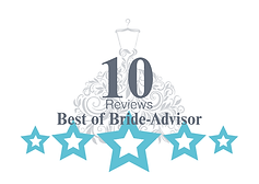 Bride-Advisor 10 Reviews Milestone Badge