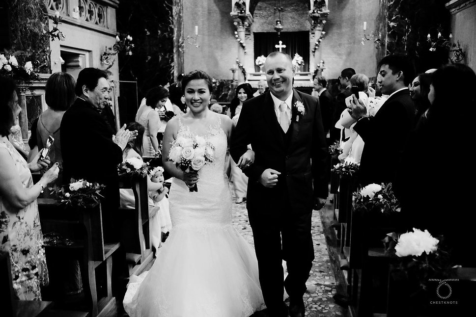Anglican church wedding Lake Como, Italy