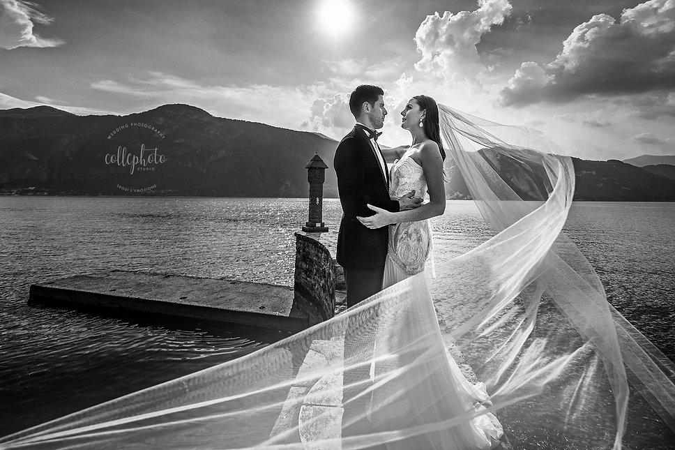 17. Bride and Groom married on Lake Como