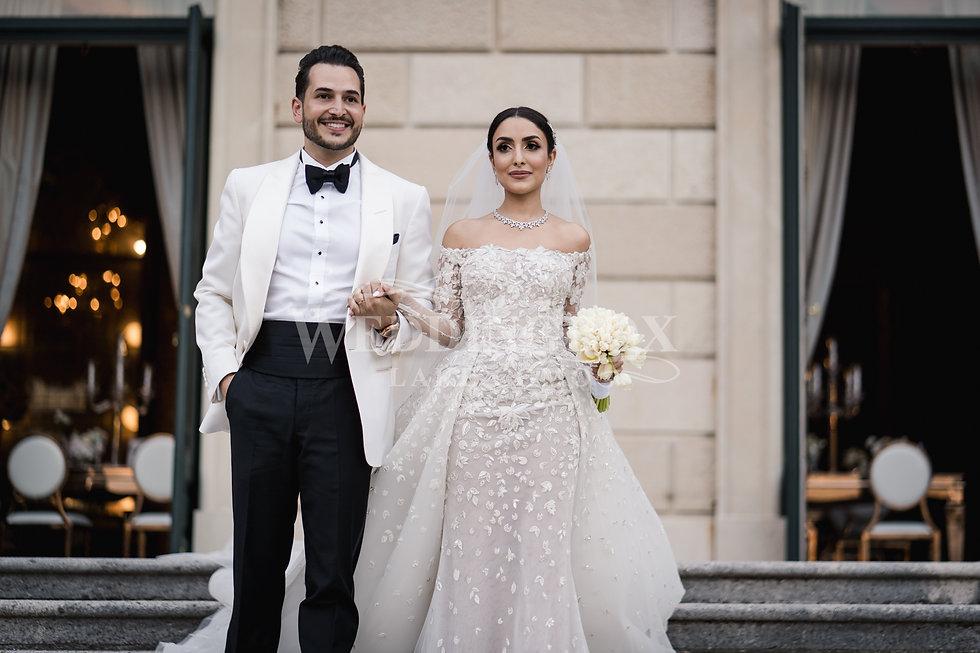 8. Tareq and Rawan at Villa Erba wedding