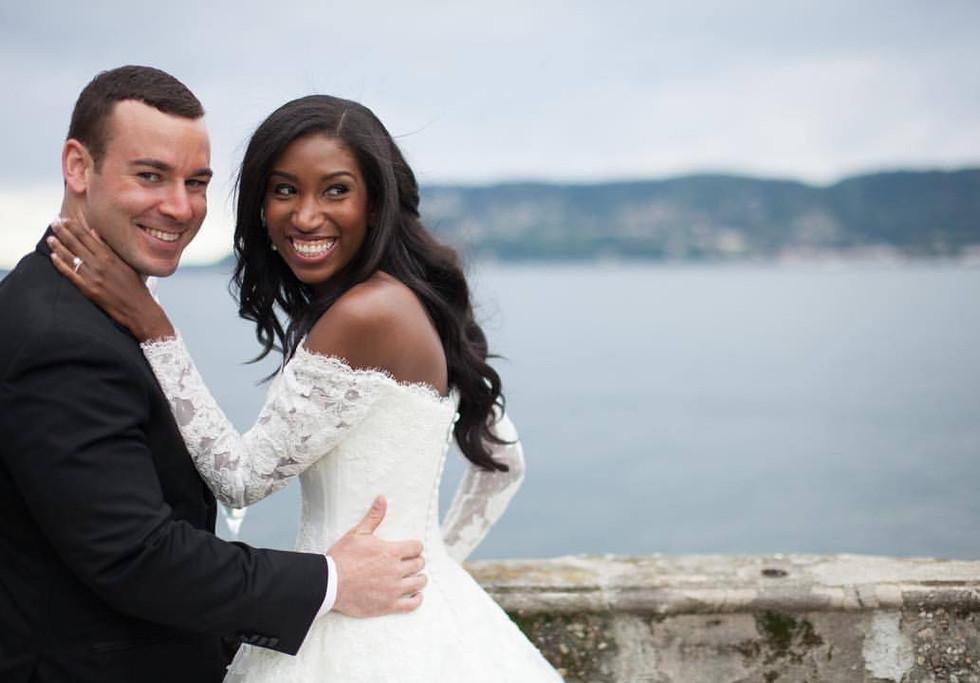 Lake Maggiore wedding bride and groom