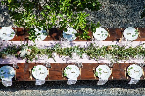 2. Wedding dinner set up at Villa Teodol