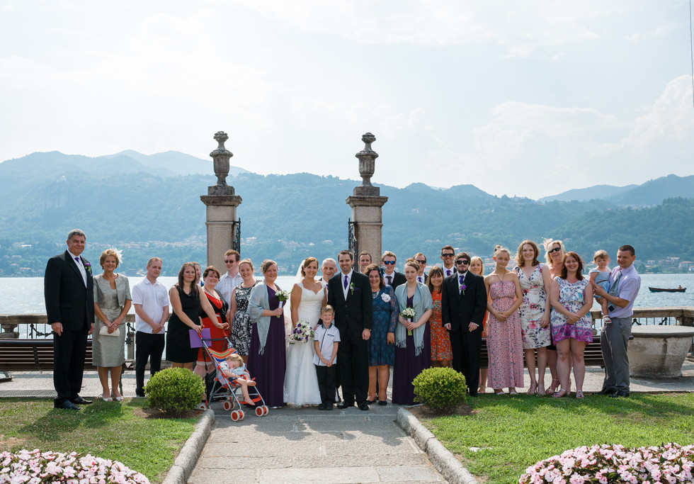 7. Bride and groom with all the guest at