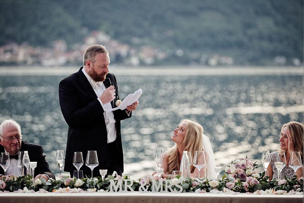 29. Memorable groom's speech with amazin