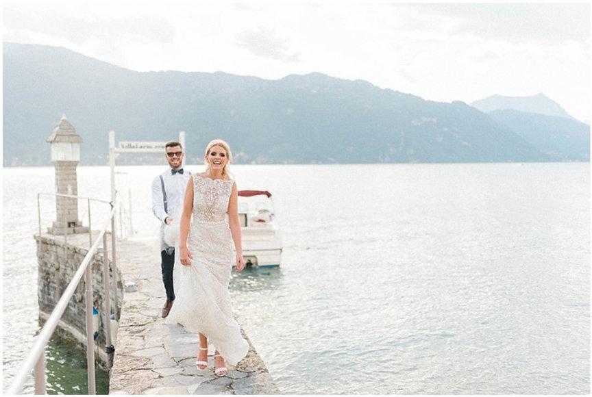 39. Bride and groom at Villa's Lario's b