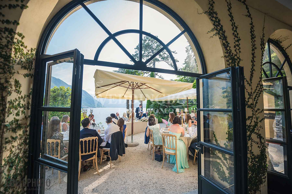 25. Dining on the terrace at Villa Balbi