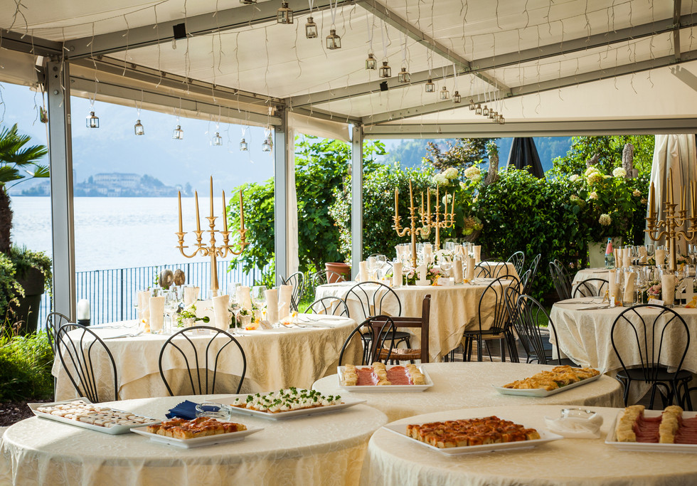 20. Wedding aperitivo at Ca dal Rat Lake