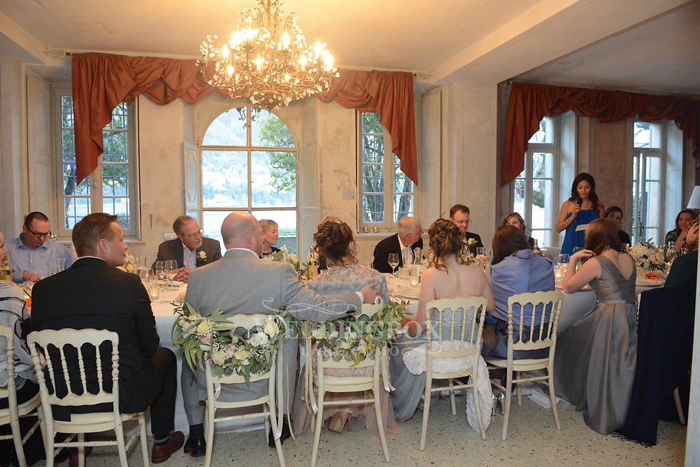 Wedding reception venue indoor dining at