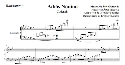Adiós Nonino (cadenza)