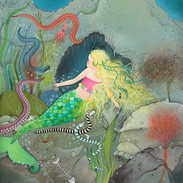 She was desperate to find the prince, so she left to find the old sea witch.
