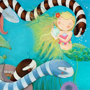 The old sea witch smiled nastily when the little mermaid asked to be given legs to replace her mermaid's tail.
