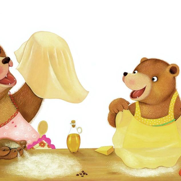 I Love my Mommy - Bears making pizza