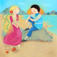 The little mermaid fell even more in love. But the prince was engaged to be married to the princess.