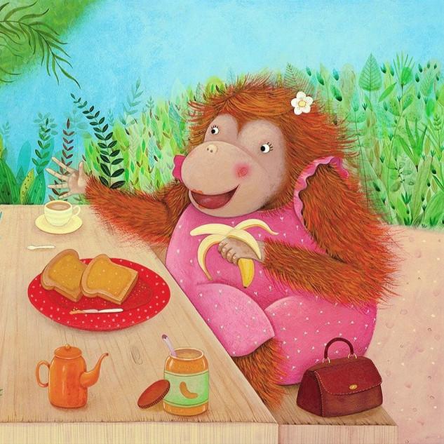 I Love my Mommy - Orangutan pic-nic