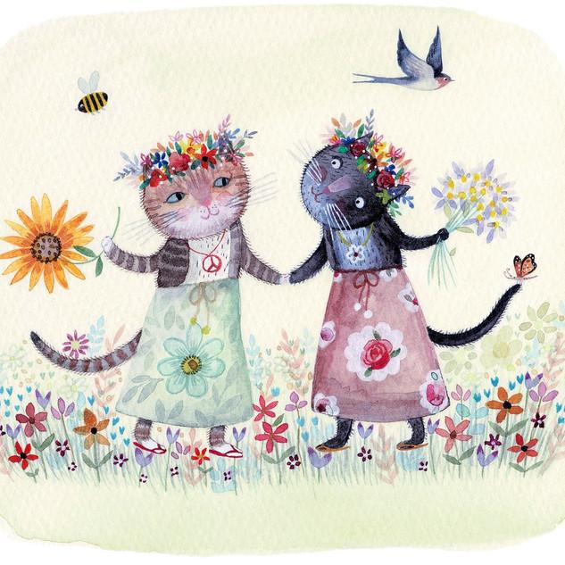 Flower Kittens