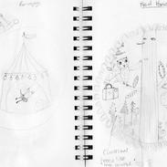 Open book sketches