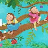 I Love my Mummy - Chimpanzees eating lunch
