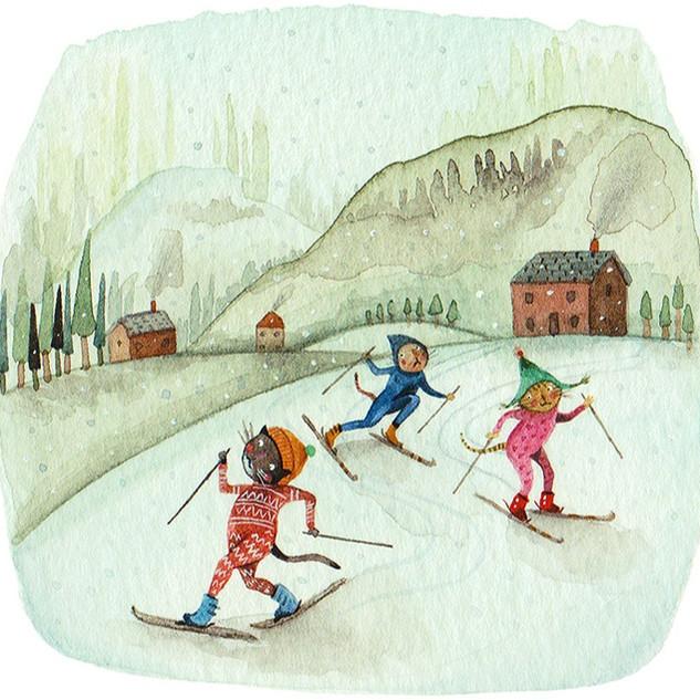 Skiing in Onesies