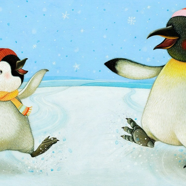 I Love my Mommy - Ice skating penguins