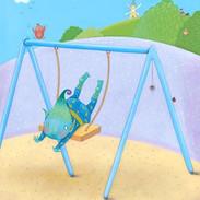 Alien on a swing