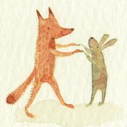 Fox and Rabbit Dancing