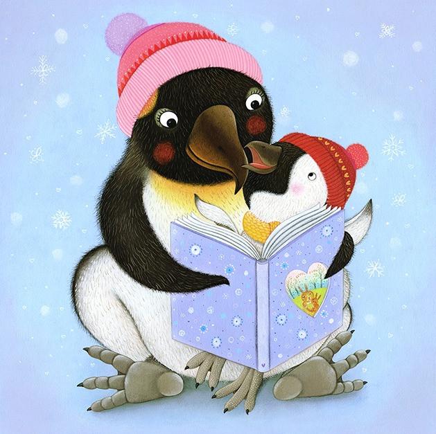 I Love my Mommy - Penguins reading