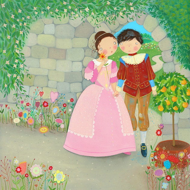 The princess helped the prince back to her father's castle to recover. They soon fell in love.