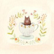 Kitten in a Tea Cup