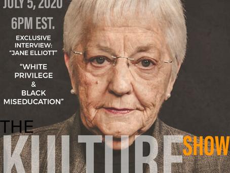 """Jane Elliott speaks on """"White Privilege and Black Miseducation"""" 6 PM EST."""