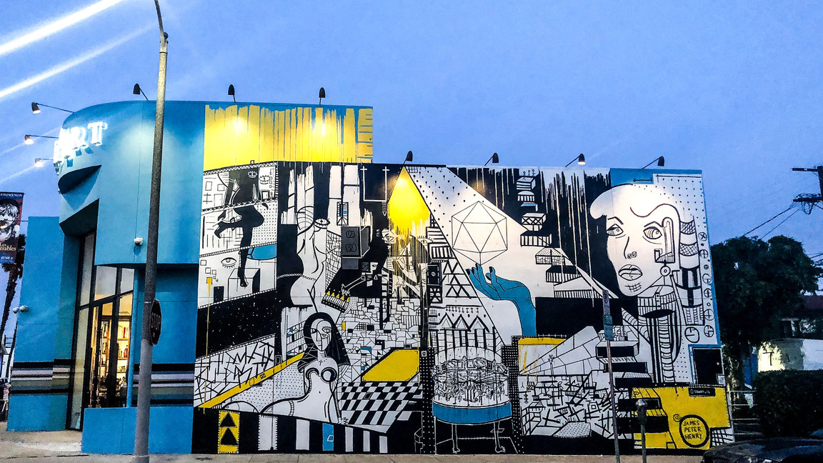Melrose Av Mural