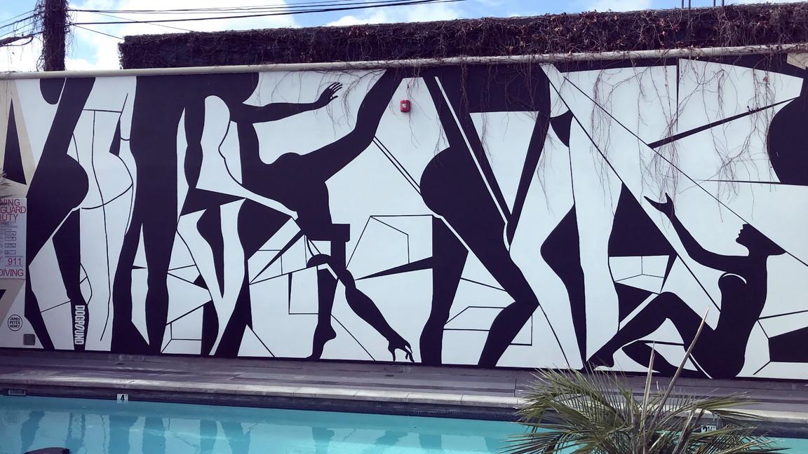 La Peer Hotel Mural - West Hollywood