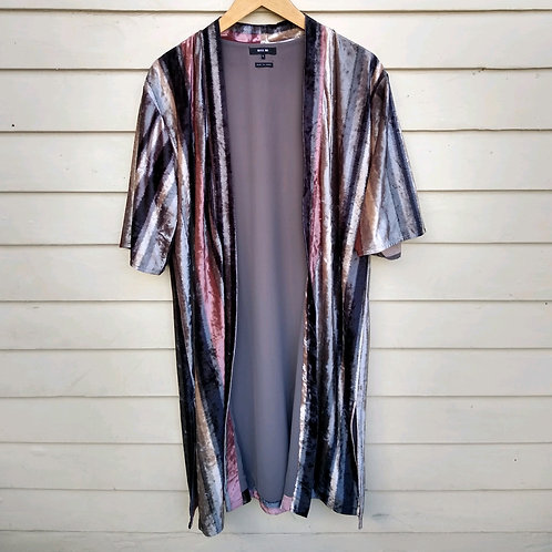 Miss Me Multicolored Velvet Wrap, Size S
