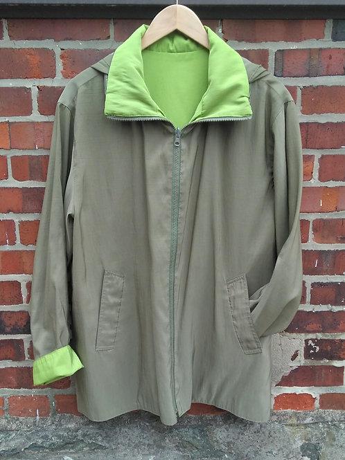 Lycra Pac Green Reversible Hooded Jacket