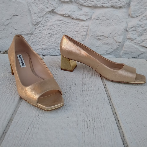 Karl Lagerfeld Gold Shoes, Size 9.5